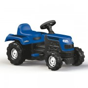 Tractor de jucarie pentru exterior cu pedale, claxon si spatar Ranchero Dolu Albastru