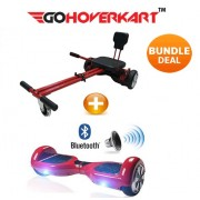 "Hoverkart and 6.5"" Hoverboard Daytona Red Bundle (GoCruiser)"