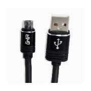 CABLE MICRO USB GHIA 2.0 MTS, DATOS Y CARGA, COLOR NEGRO