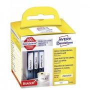 Avery Zweckform AS0722470 190 x 38 mm Carta Bianco 110 pz. Permanente Etichetta per raccoglitore da ufficio
