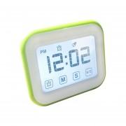 Cocina Temporizador Reloj Despertador Digital Gran Pantalla Tactil LCD Vienen Con Luz De Noche Para Cocinar, Hornear (verde)