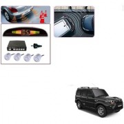 Auto Addict Car Silver Reverse Parking Sensor With LED Display For Mahindra New Scorpio