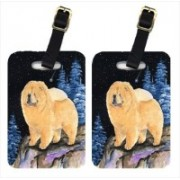 Caroline's Treasures SS8454BT Starry Night Chow Chow Luggage Tags Luggage Tag(Multicolor)