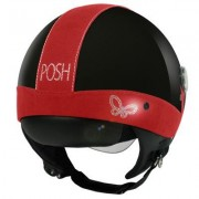 Casco Moto Donna Jet Max Posh Shiny Black Red