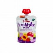 Holle Bio almás-őszibarackos finomság erdei gyümölcsökkel 90 g