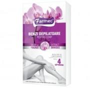 Benzi depilatoare corp Farmec Orhidee 14/set + 2 servetele