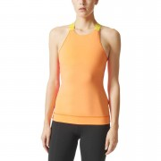 adidas Women's Stellasport Gym Tank Top - Orange/Pink - L/UK 16-18 - Orange