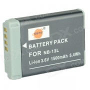 DSTE 1500mAh NB-13L bateria para Canon PowerShot G7X camara + mas - gris