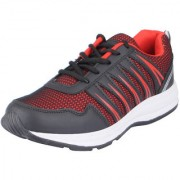 Vandeu Men's Black Red Mesh Sports Running Shoes