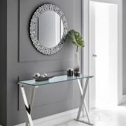 Zendart Design Sélection Miroir rond en verre et bordure brillante Michaelo par Zendart Sélection