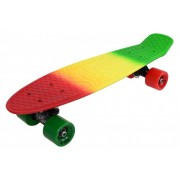 Penny Board Slv 3C 22 INCH verde cu galben si rosu