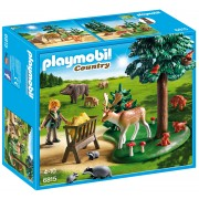 PLAYMOBIL - TEREN IMPADURIT SI ANIMALE - FORESTER'S HOUSE (PM6815)