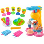 Set aparat de preparat inghetata pentru copii, multicolor, dimensiuni 18,5x16 cm