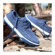 Casual Zapatos De Lona Verano Denim Lavados E-Thinker Para Hombres -Azul