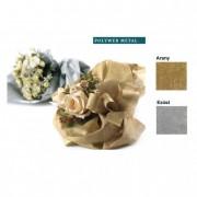 Csomagoló textil fémes hatású 0,51x9m ezüst