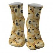 Mr. Gugu & Miss Go Doge Unisex Midi Socks SOM636