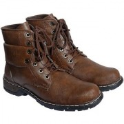 Sapience Men's Casual Lace-Up Boots (Brown)