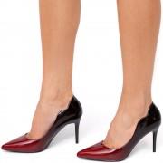 Pantofi dama Carys, Negru/Rosu 38