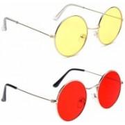 John Dior Round Sunglasses(Red, Yellow)