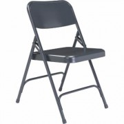National Public Seating All Steel Folding Chairs - Set of 4, Char-Blue, Model 204