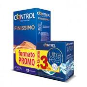 CONTROL FINISSIMO 12 Unidades + ULTRA FEEL 3 Unidades