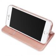 Husa Flip Cu Stand iPhone 8 / 7 Roz Aurie