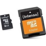 Card de Memorie Micro SD cu Adaptor INTENSO 3413480 32 GB Clasa 10