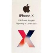 Set Incarcator original Apple Adaptor priza USB + Cablu de date sau incarcare pentru iPhone Alb SHO524