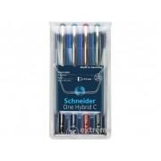 "Set roller Schneider ""One Hybrid C"" 0,3 mm, 4 culori"