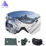 VECTOR Brand Ski Goggles With Case Double Lens UV400 Anti-fog Ski Snow Glasses Skiing Men Women Winter Snowboard Eyewear HB108