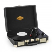 Auna Peggy Sue, gramofon, difuzor stereo, portabil, port USB, negru/auriu (TT316)