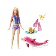 Papusa Barbie care isi schimba culoarea si Delfinul Magic