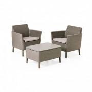 Salemo balcony kerti bútor szett 2 fotel kis asztallal