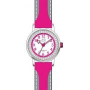 Růžové bezniklové dívčí náramkové hodinky JVD basic J7089.4 pro holky