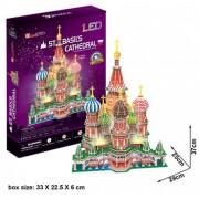 CubicFun L519h St. Basil's Cathedral (with LEDs) 3d Puzzle, 224 Pieces