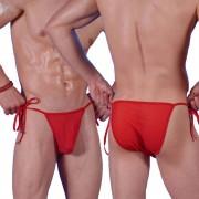 Don Moris Fantasy Sheer Tie Side Bikini Underwear Red DM080878