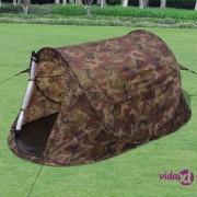 vidaXL Prigodni šator za 2 osobe maskirna boja