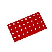 Červený plastový nájezd AT-STD, AvaTile - délka 25 cm, šířka 13,7 cm a výška 1,6 cm