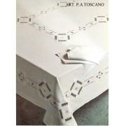 Ricamificio Tovaglia RICAMATA A MANO made in Italy PURO LINO P.A. TOSCANO