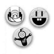 Insigne, 3buc/set, Roller NIKIDOM - comic strip