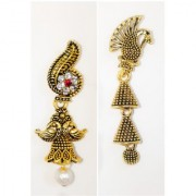 BUY ONE GET ONE FREE OFFERWEDDING Traditional Jhumka SET EARRING WITH gold plated Fancy PARTY wear STYLISH PEARL ALLOY.