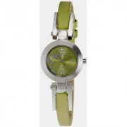 Q&Q Quartz Green Round Women Watch 100S031-302Y