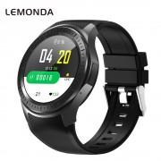 LEMONDA DM368 Plus 4G Smart Watch Android 7.1 MT6739 1GB+16GB Support WiFi GPS Heart Rate Monitor - Black