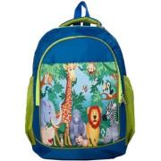 Li'll Pumpkins Blue jungle School Bag