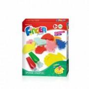 Set cretie pentru pictura cu degetele Orange Elephant 2S