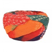 Madhu Shree Safa & Sherwani Jodhpuri Safa Bandhej Multi-Coloured Men's Turban