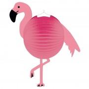 Merkloos Flamingo ronde roze lampionnen 25 cm