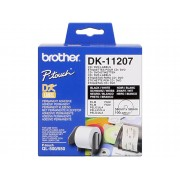 Brother Consumible Original Brother DK11207 Etiquetas precortadas para CD/DVD (película plástica). 100 etiquetas blancas de 58 x 58 mmpara impresoras...