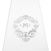 Confetti Monogram Simplicity Personalized Aisle Runner-Plain White