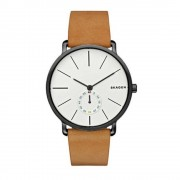 Skagen Skw6210 Hagen negro y marrón cuero Watch de Men